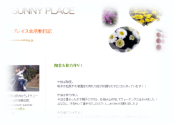サニープレイス☆活動日記